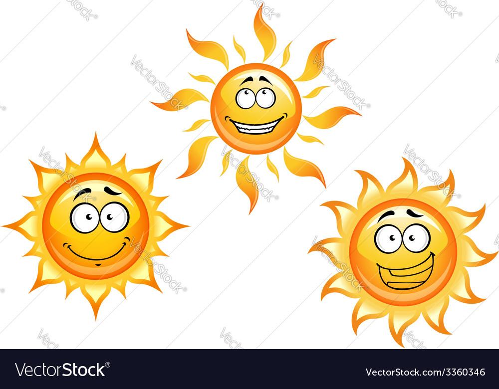 Cartoon sun characters vector | Price: 1 Credit (USD $1)