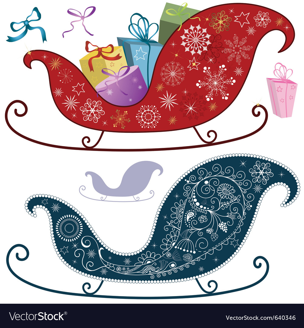 Christmas sleigh vector | Price: 1 Credit (USD $1)