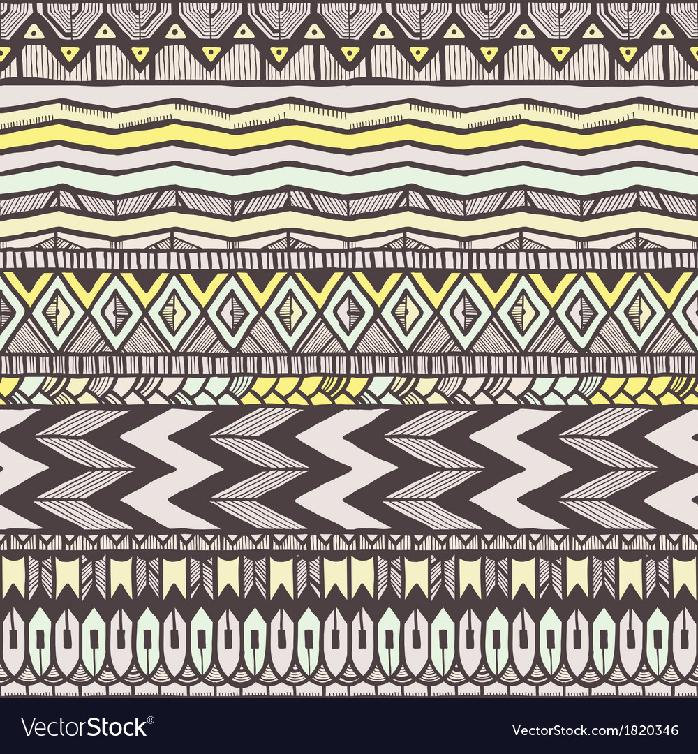 Ethnic seamless pattern vector | Price: 1 Credit (USD $1)