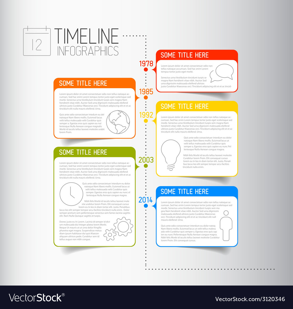 Infographic timeline report template with vector | Price: 1 Credit (USD $1)