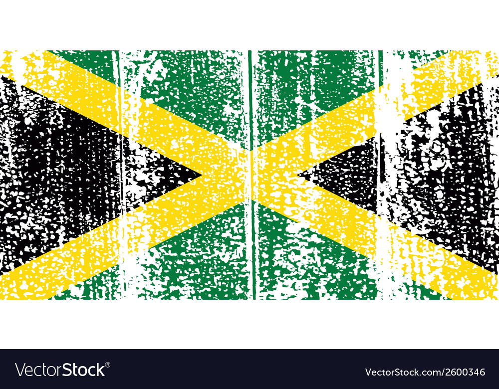 Jamaican grunge flag vector | Price: 1 Credit (USD $1)