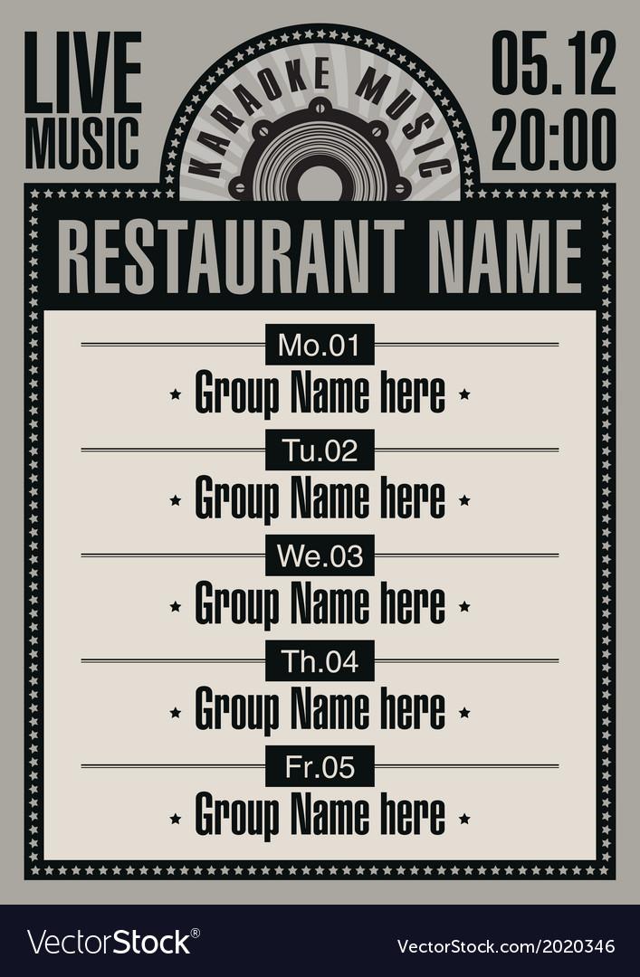 Karaoke restaurant vector | Price: 1 Credit (USD $1)