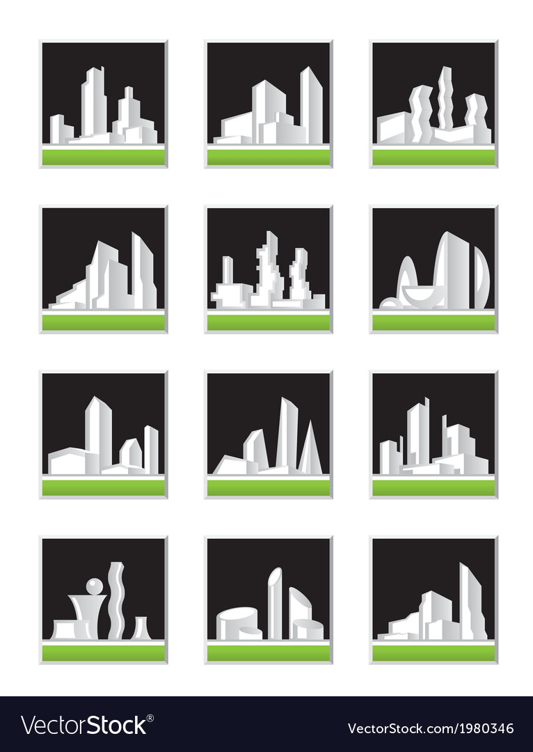 Modern construction set vector | Price: 1 Credit (USD $1)