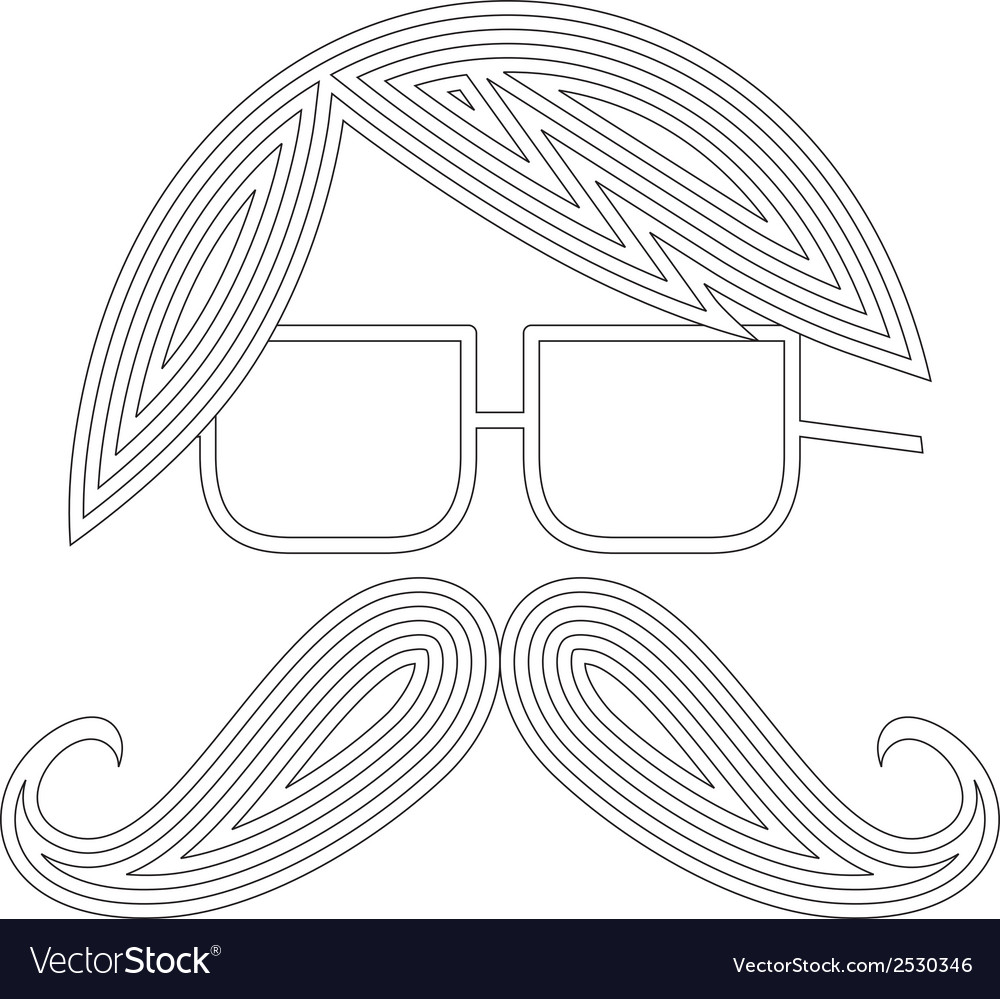 Moustache man icon vector | Price: 1 Credit (USD $1)
