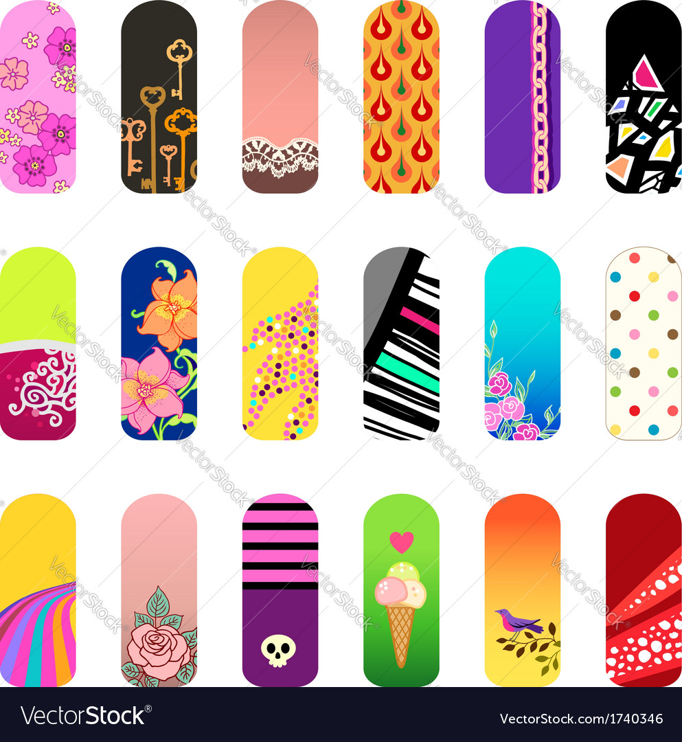 Nail stickers vector | Price: 1 Credit (USD $1)