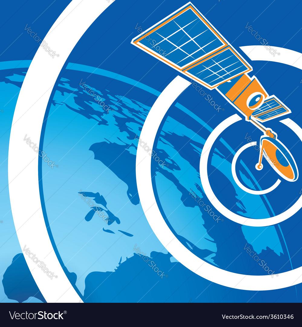 Satellite telecommunications vector | Price: 1 Credit (USD $1)