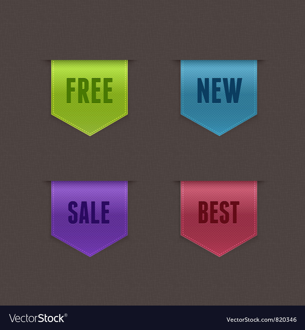Set of 4 quality ribbons vector | Price: 1 Credit (USD $1)