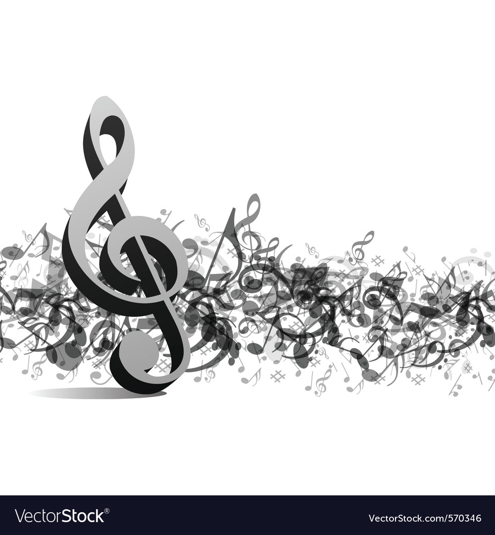 Treble notes background vector | Price: 1 Credit (USD $1)