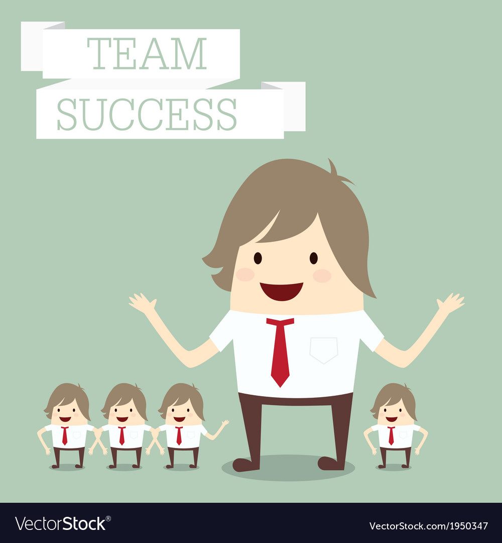 Businessman group with words team and success busi vector | Price: 1 Credit (USD $1)