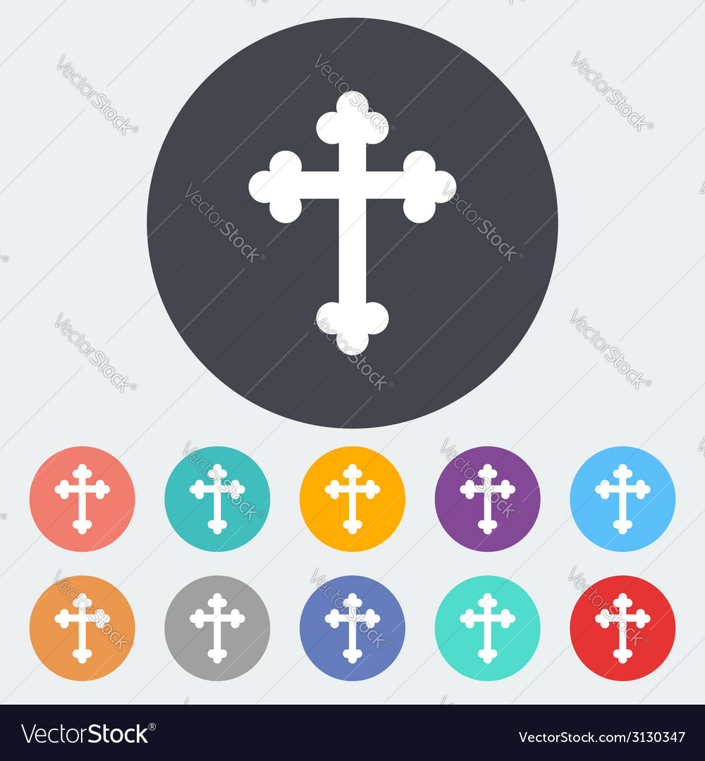 Cross single icon vector | Price: 1 Credit (USD $1)