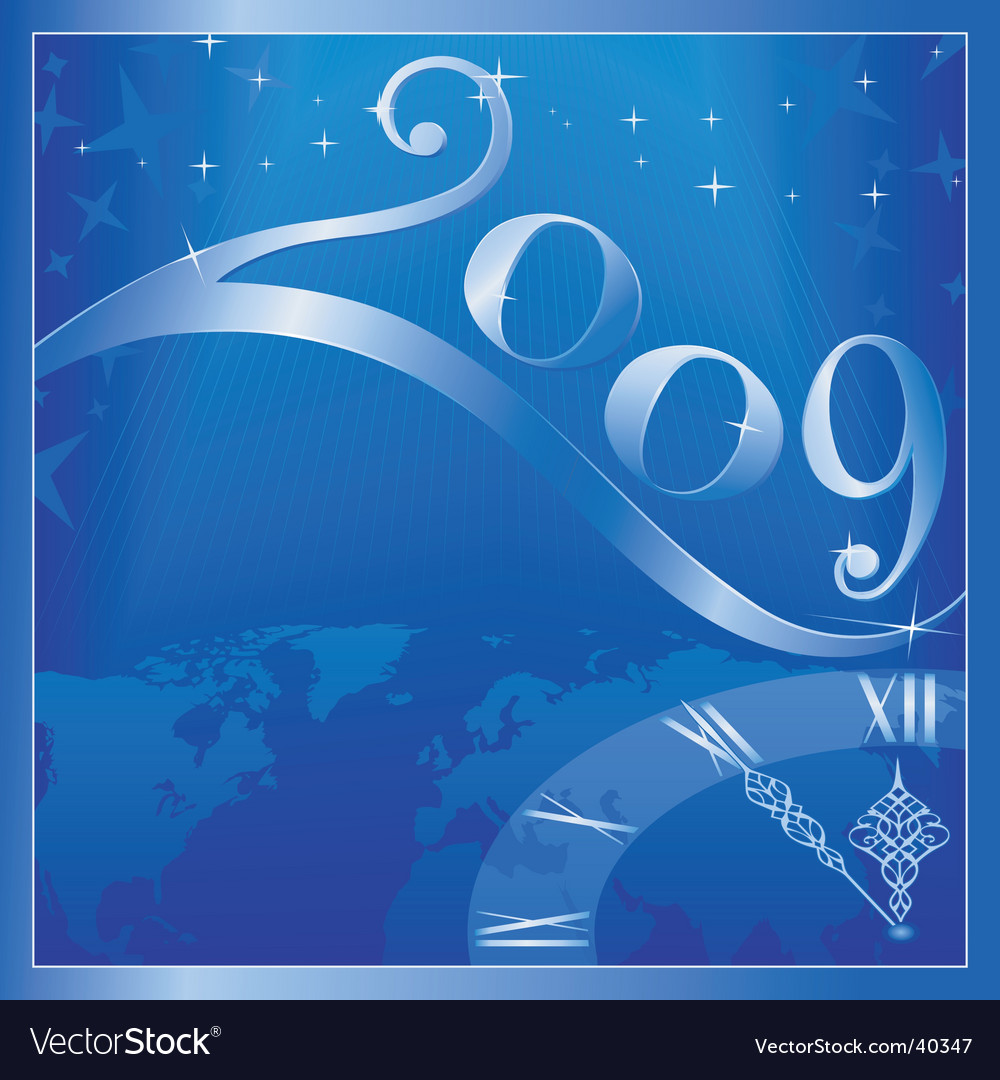 Happy new year 2009 vector | Price: 1 Credit (USD $1)