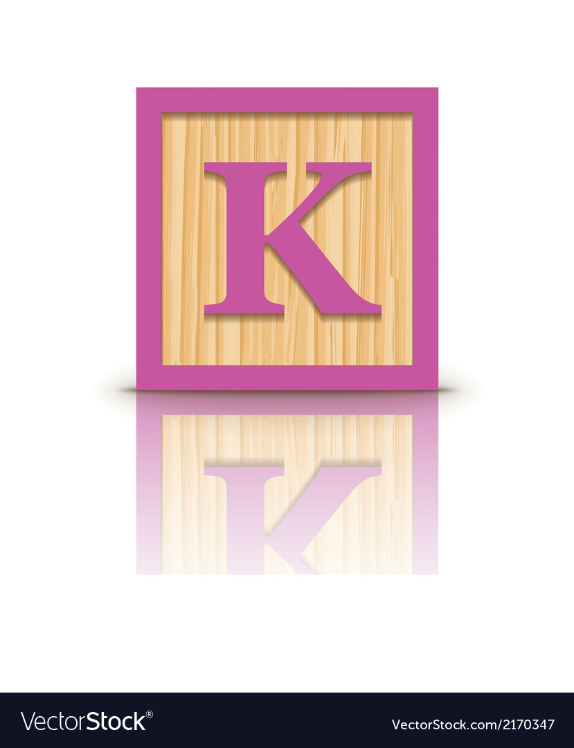 Letter k wooden alphabet block vector | Price: 1 Credit (USD $1)
