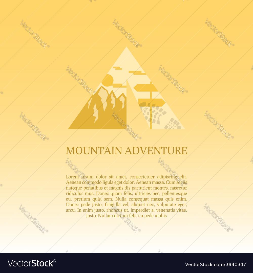 Mountain camp logo design template adventure vector | Price: 1 Credit (USD $1)