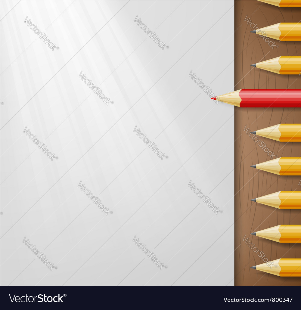 Pencils and paper vector | Price: 1 Credit (USD $1)