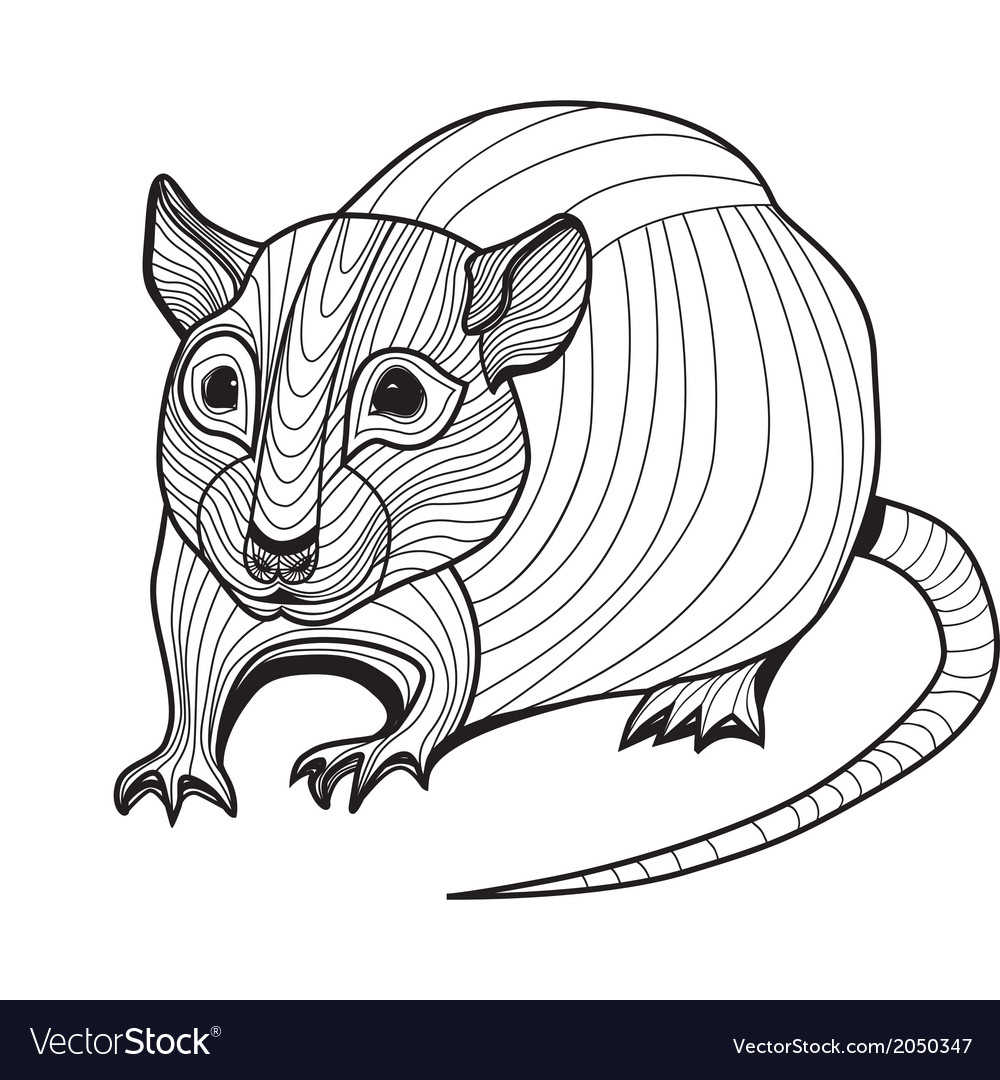 Rat or mouse head animal vector | Price: 1 Credit (USD $1)