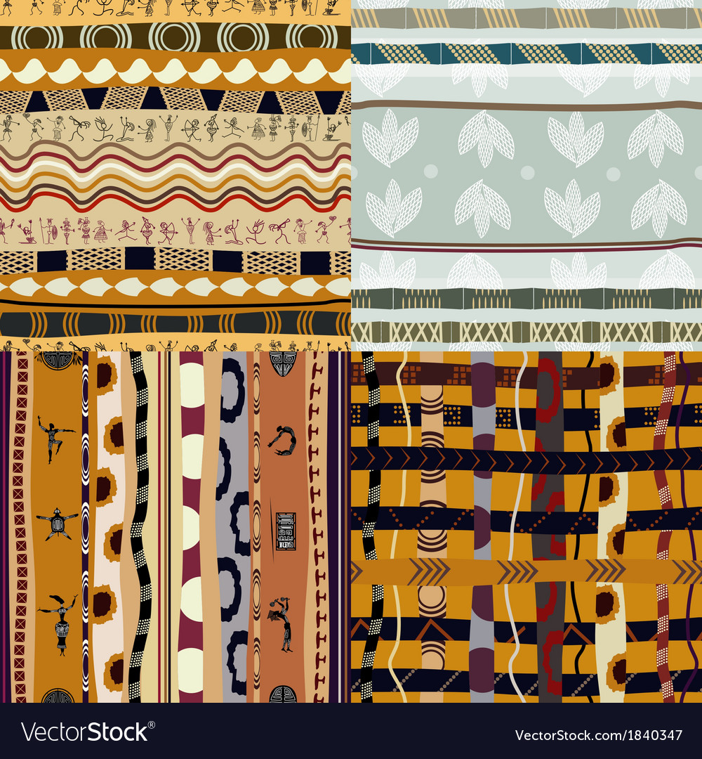 Set of seamless of african vector | Price: 1 Credit (USD $1)
