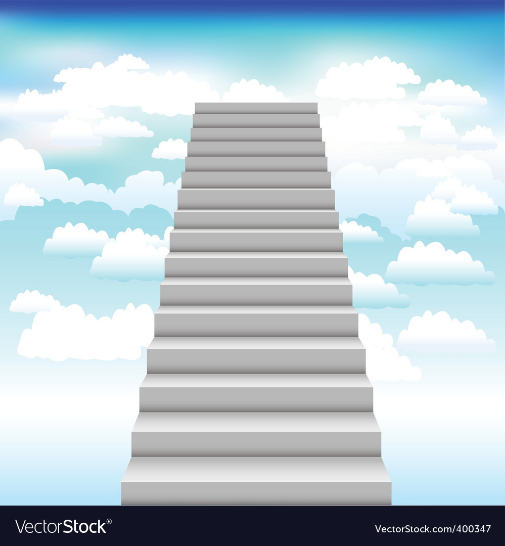 Staircase into sky background vector | Price: 1 Credit (USD $1)