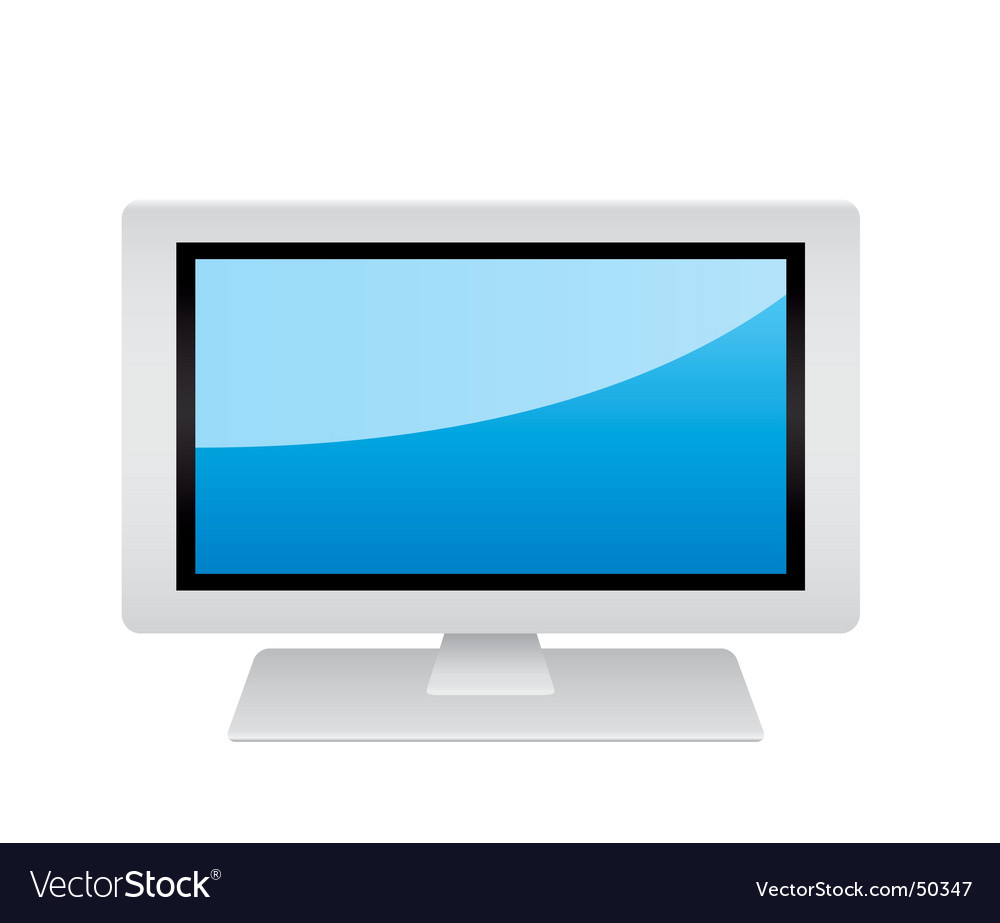 White monitor vector | Price: 1 Credit (USD $1)