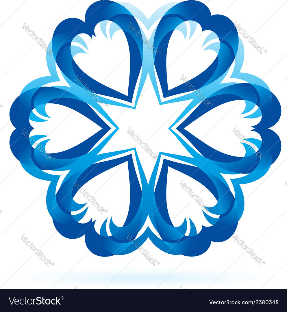 Abstract blue shape vector | Price: 1 Credit (USD $1)