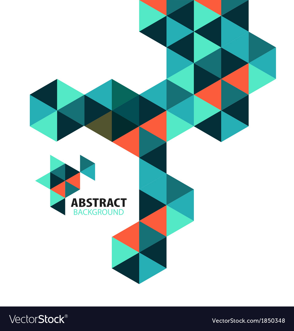 Abstract mosaic geometric shapes isolated vector | Price: 1 Credit (USD $1)