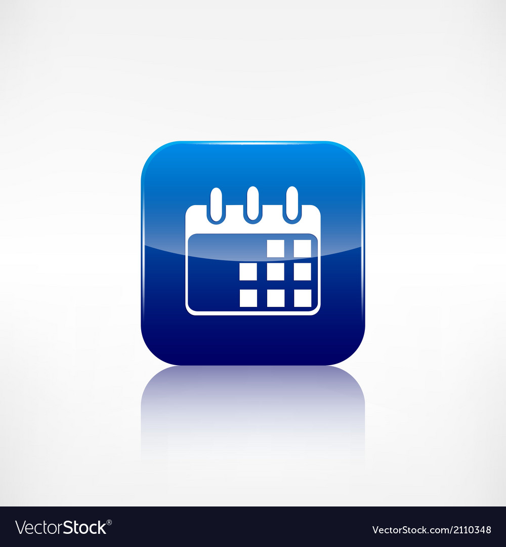 Calendar organizer icon date symbol vector | Price: 1 Credit (USD $1)