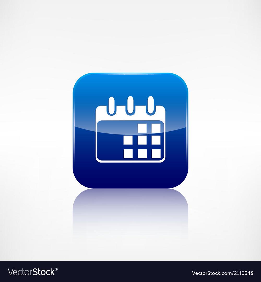 Calendar organizer icon date symbol vector | Price: 1 Credit (USD $1)