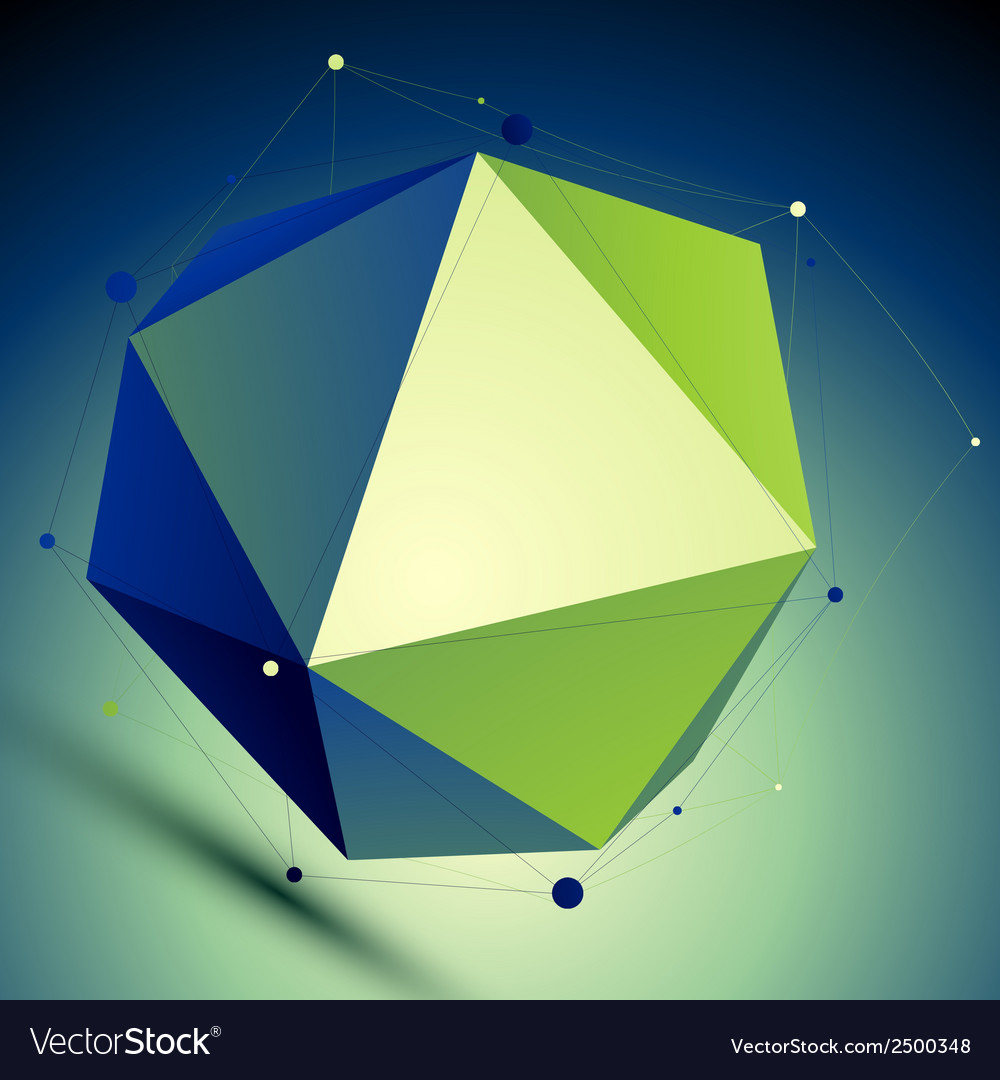 Colorful triangular abstract 3d digital lat vector | Price: 1 Credit (USD $1)