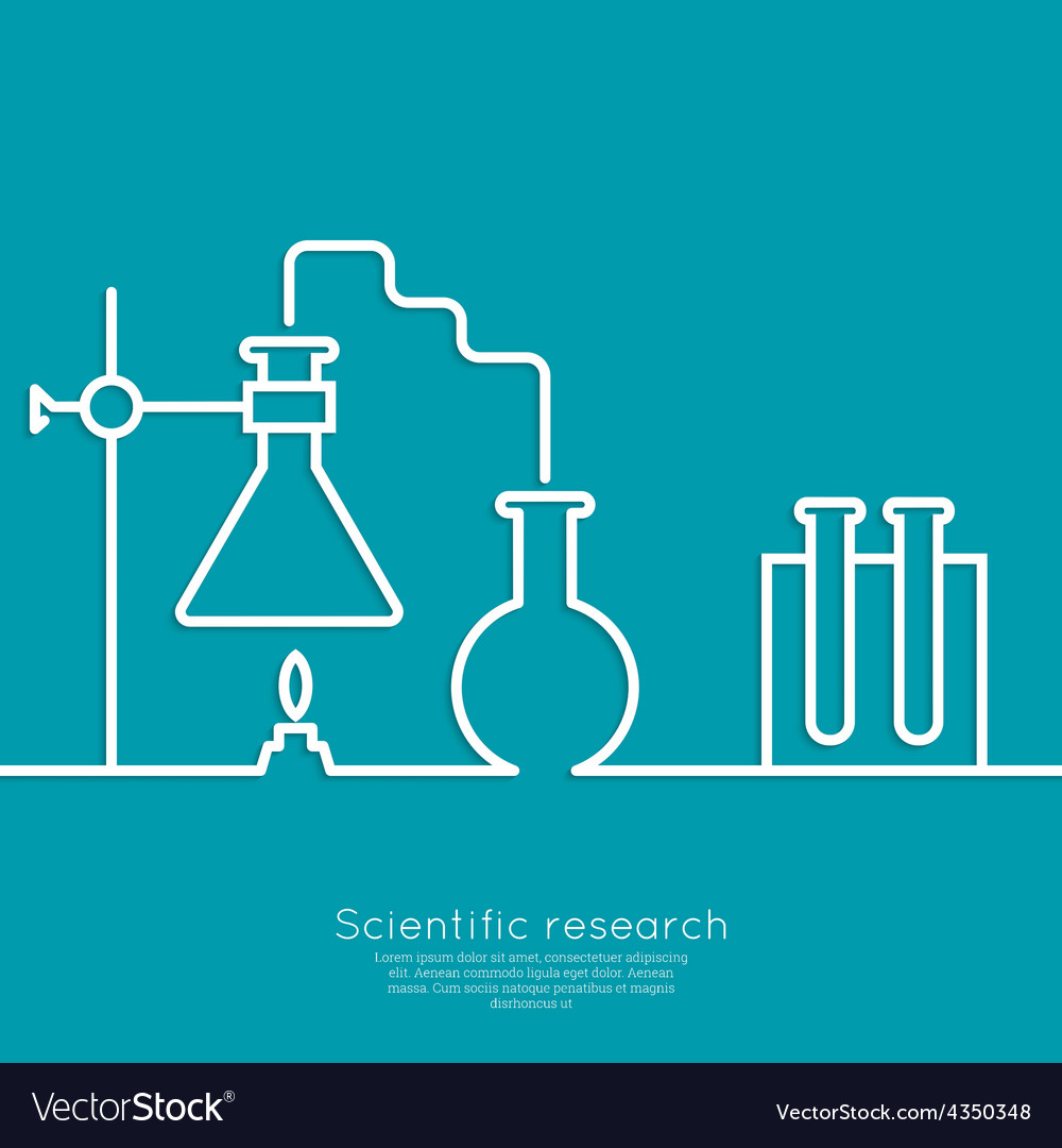 The concept of chemical science research lab vector | Price: 1 Credit (USD $1)