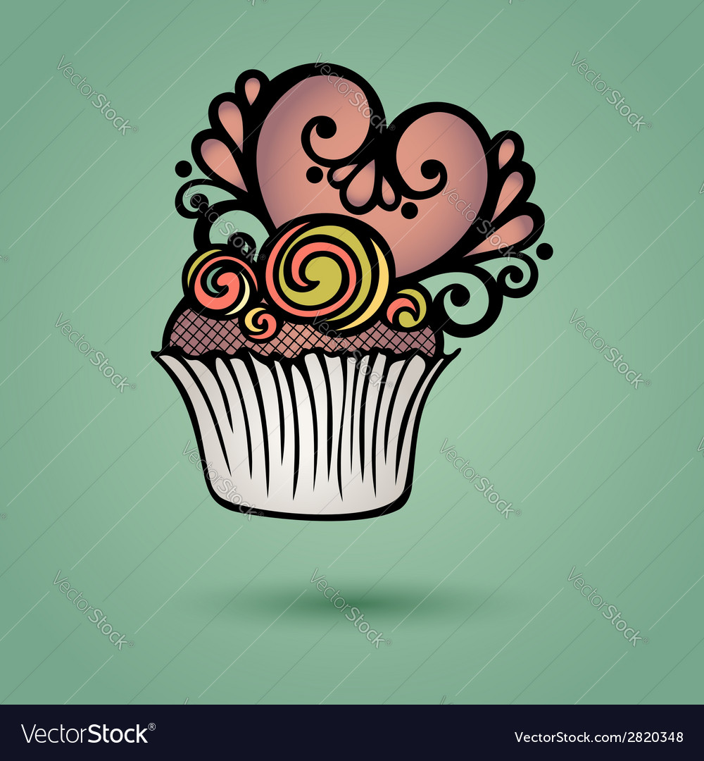 Decorative ornate cake vector | Price: 1 Credit (USD $1)