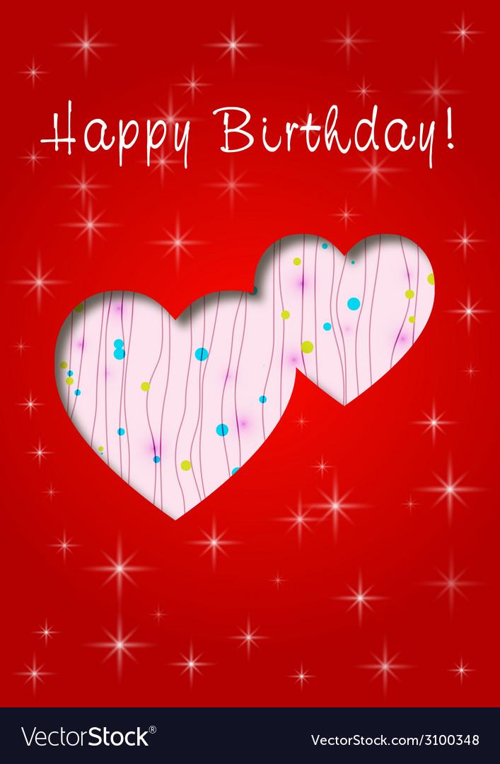 Happy birthday whit love vector | Price: 1 Credit (USD $1)
