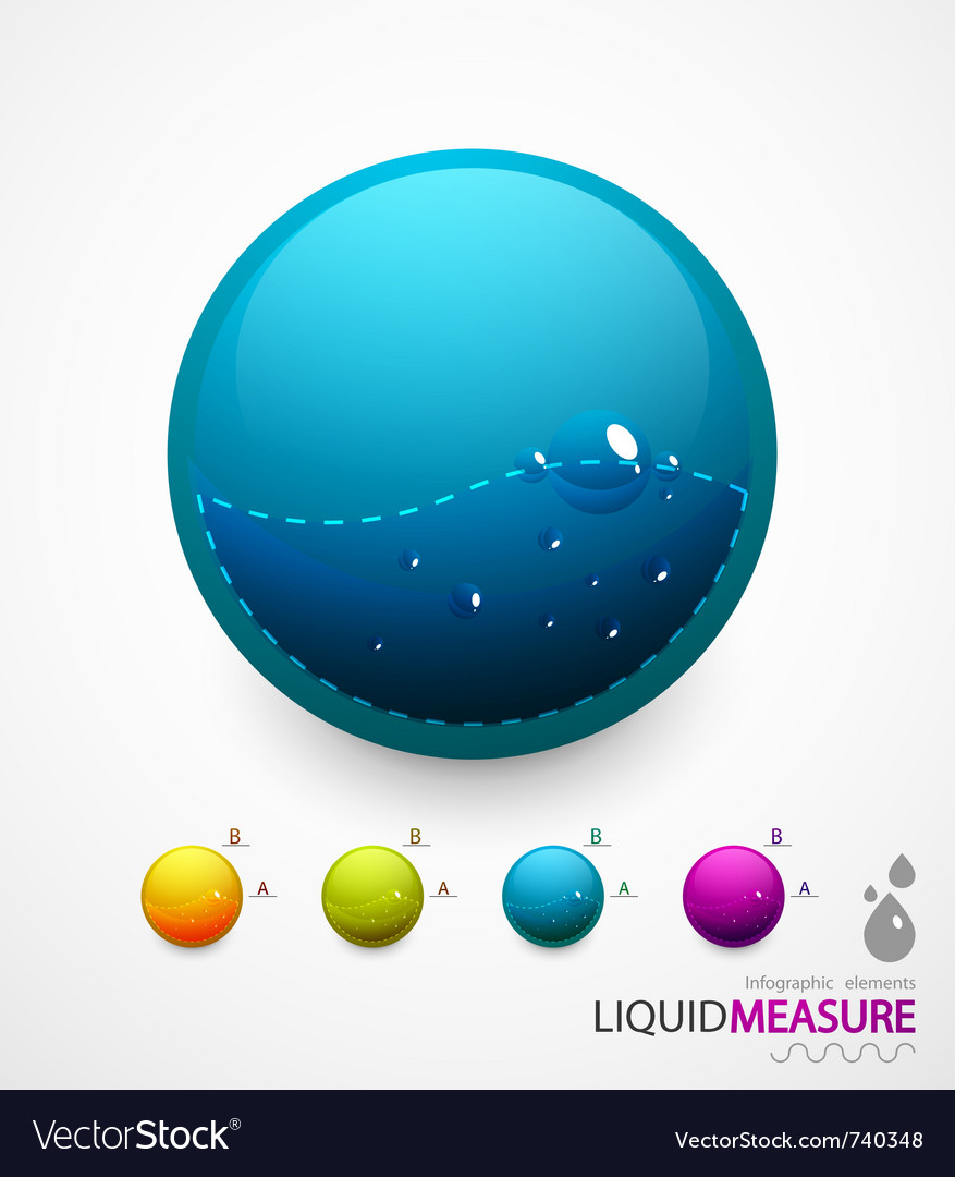 Liquid measure elements vector | Price: 1 Credit (USD $1)