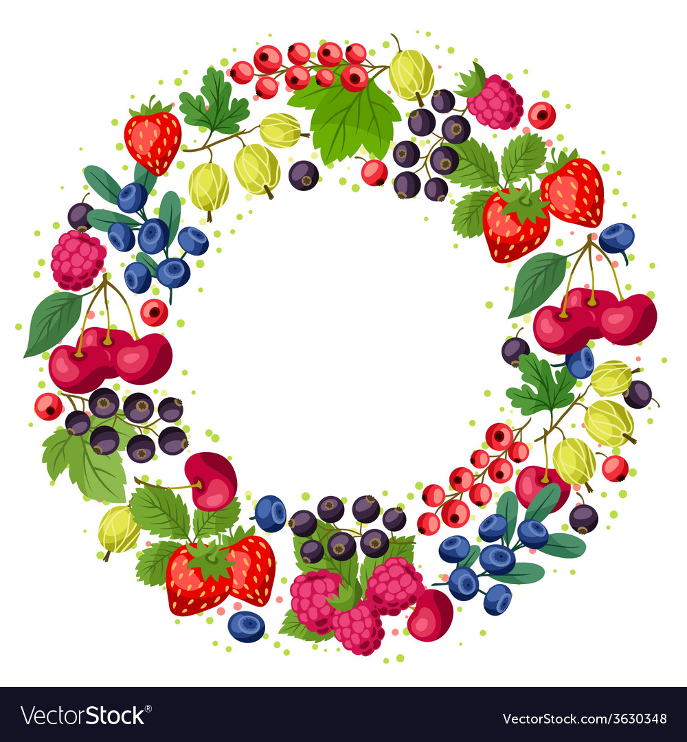 Nature background design with berries vector | Price: 1 Credit (USD $1)
