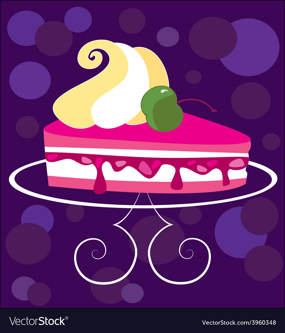 Piece of cake vector | Price: 1 Credit (USD $1)