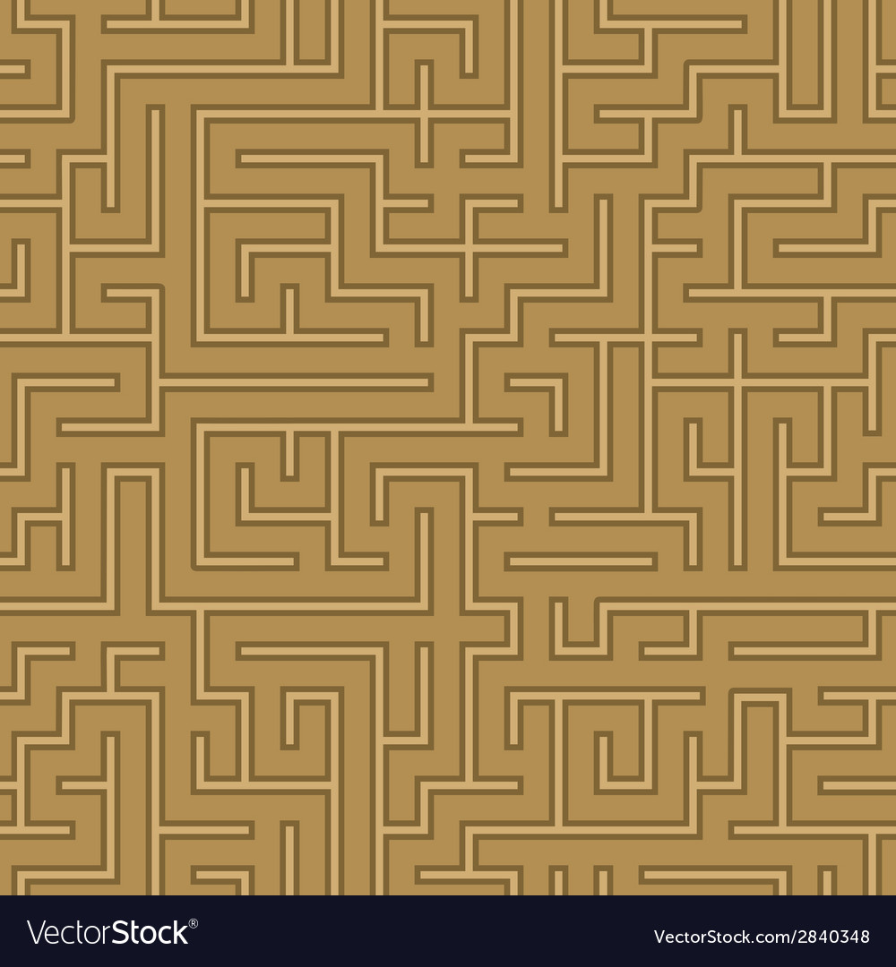 Seamless abstract complex maze labyrinth vector | Price: 1 Credit (USD $1)