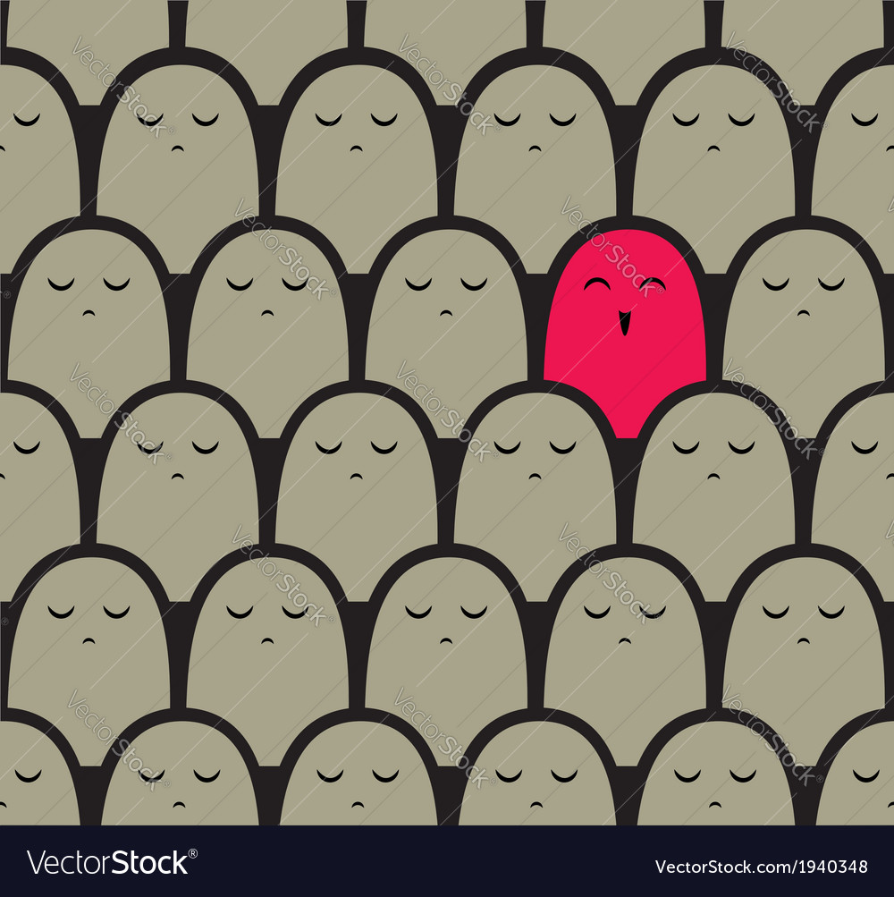 Standing out from the crowd concept vector | Price: 1 Credit (USD $1)