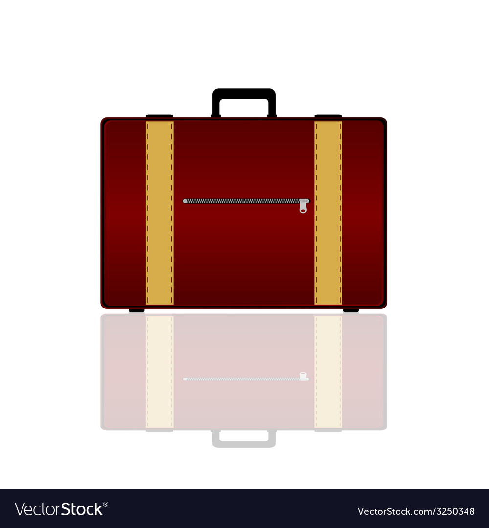 Travel bag in brown color vector | Price: 1 Credit (USD $1)