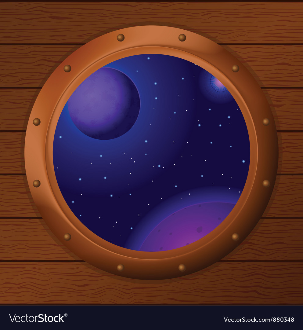 Window with space vector | Price: 1 Credit (USD $1)