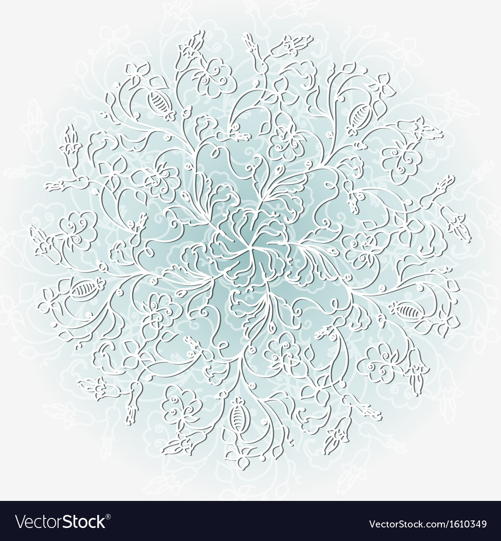 Abstract christmas background with snowflakes vector | Price: 1 Credit (USD $1)