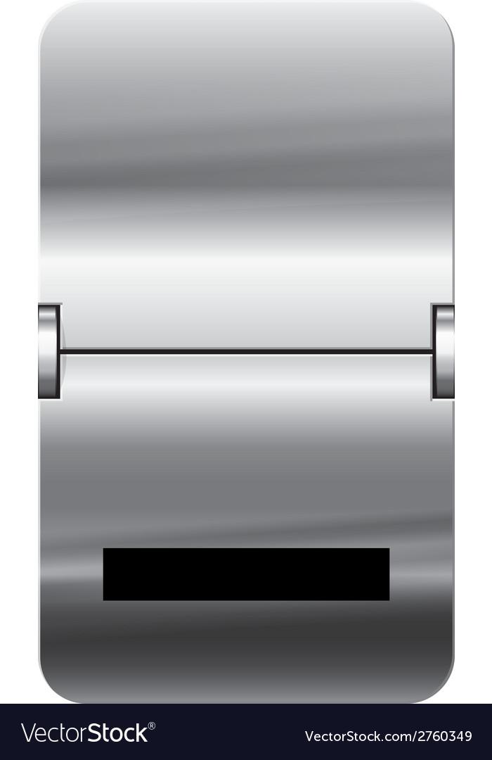 Alphabet silver flipboard letters underscore vector | Price: 1 Credit (USD $1)