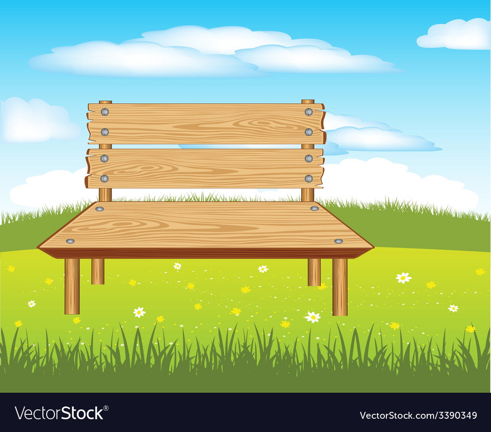 Bench on nature vector | Price: 1 Credit (USD $1)