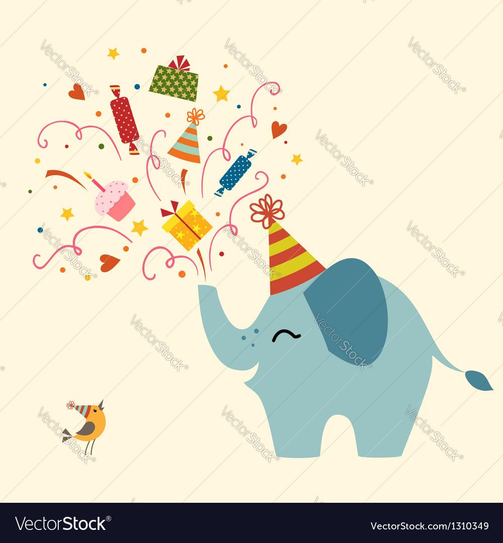 Birthday greeting card vector | Price: 1 Credit (USD $1)