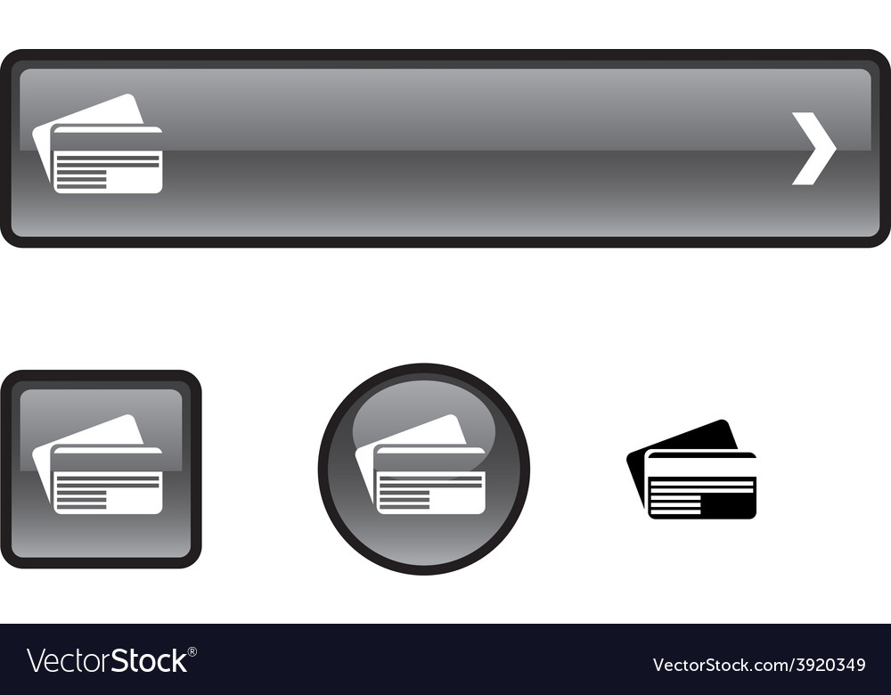 Card button set vector | Price: 1 Credit (USD $1)