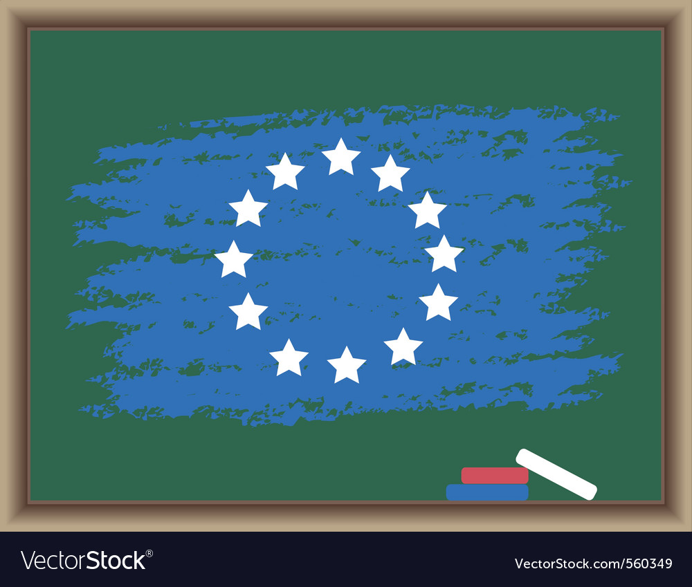 Chalk flag of europe vector | Price: 1 Credit (USD $1)