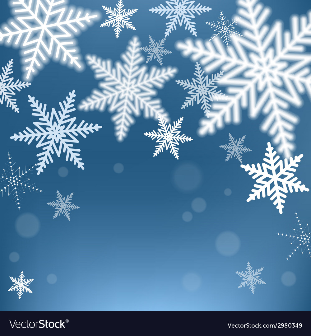 Christmas snowflakes background vector | Price: 1 Credit (USD $1)