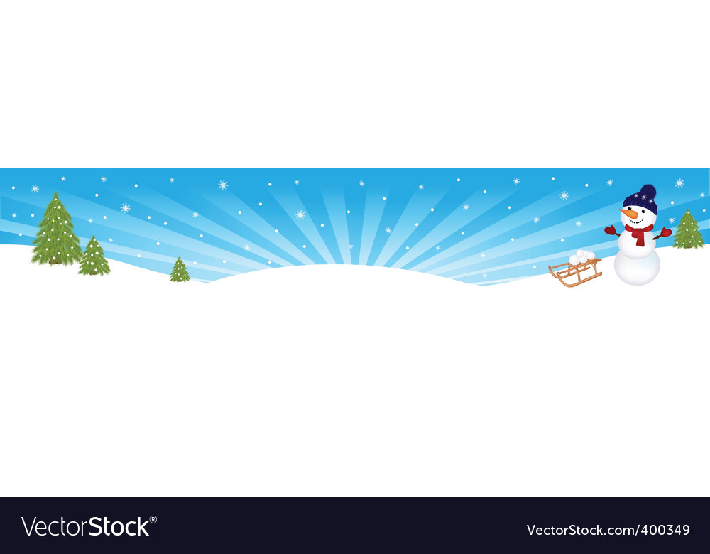 Christmas winter banner vector   Price: 1 Credit (USD $1)