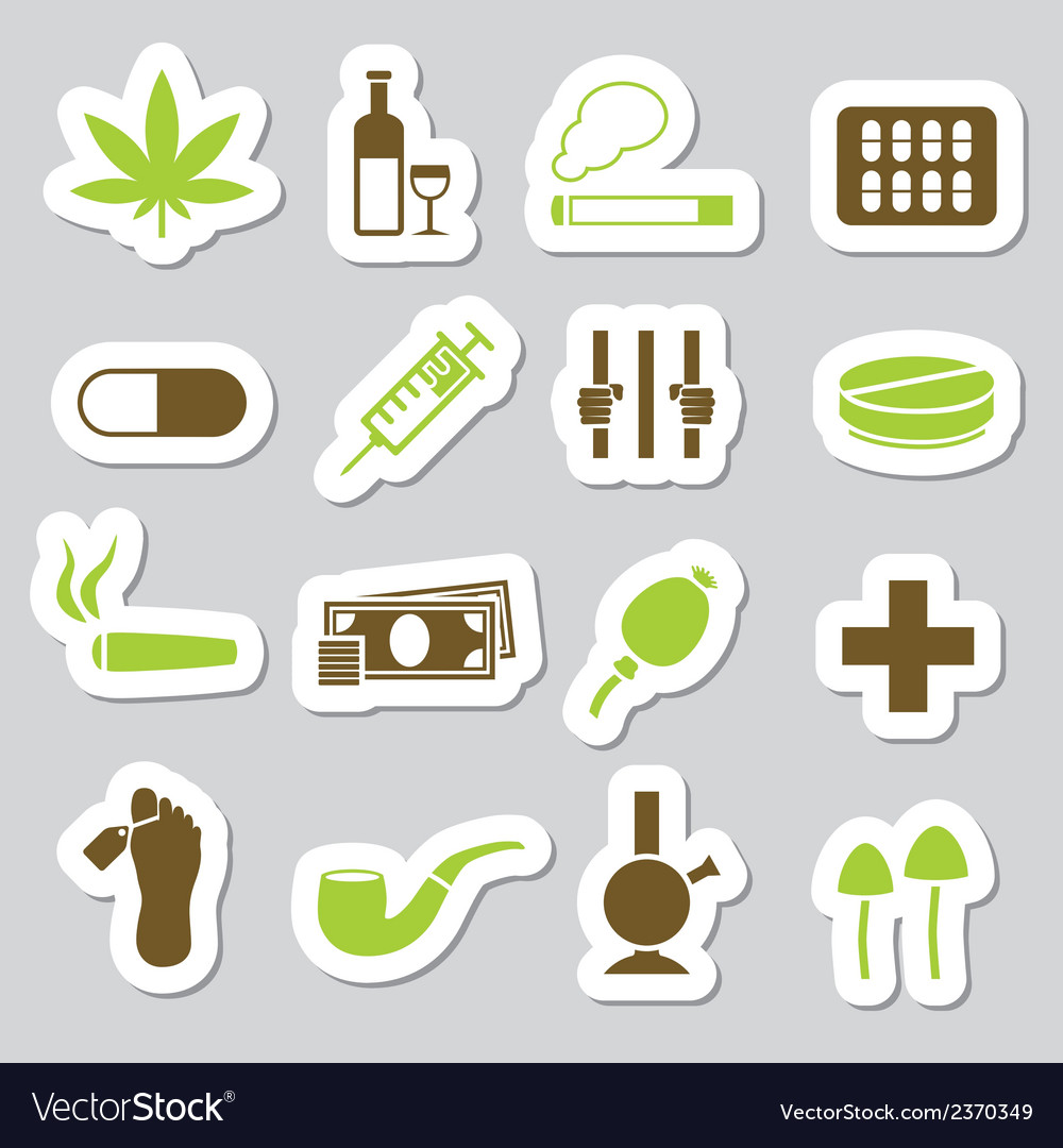 Drugs stickers vector | Price: 1 Credit (USD $1)