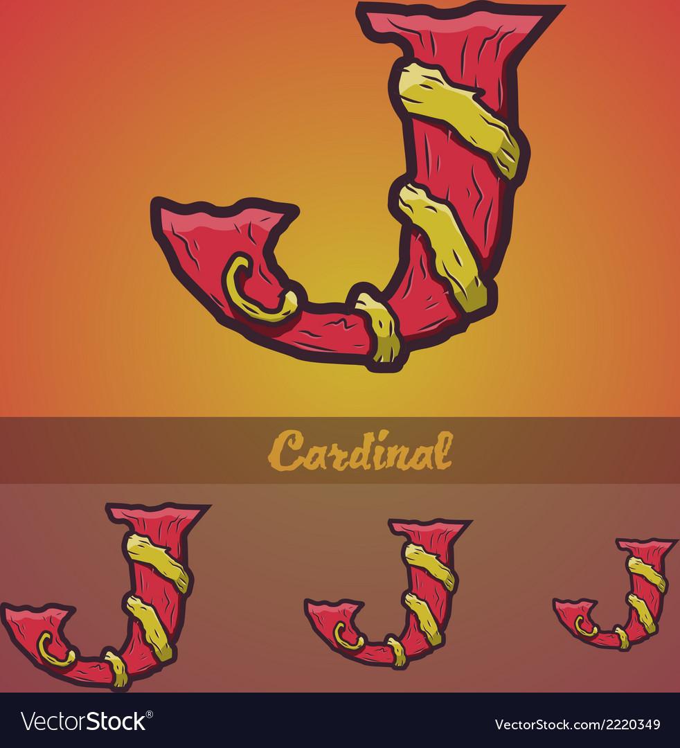 Halloween decorative alphabet - j letter vector | Price: 1 Credit (USD $1)