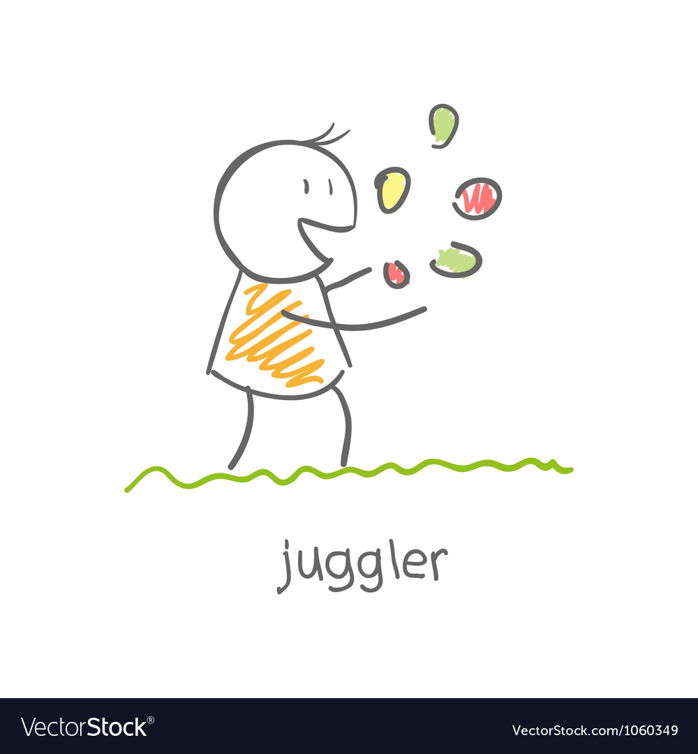 Juggler playing with balls vector | Price: 1 Credit (USD $1)