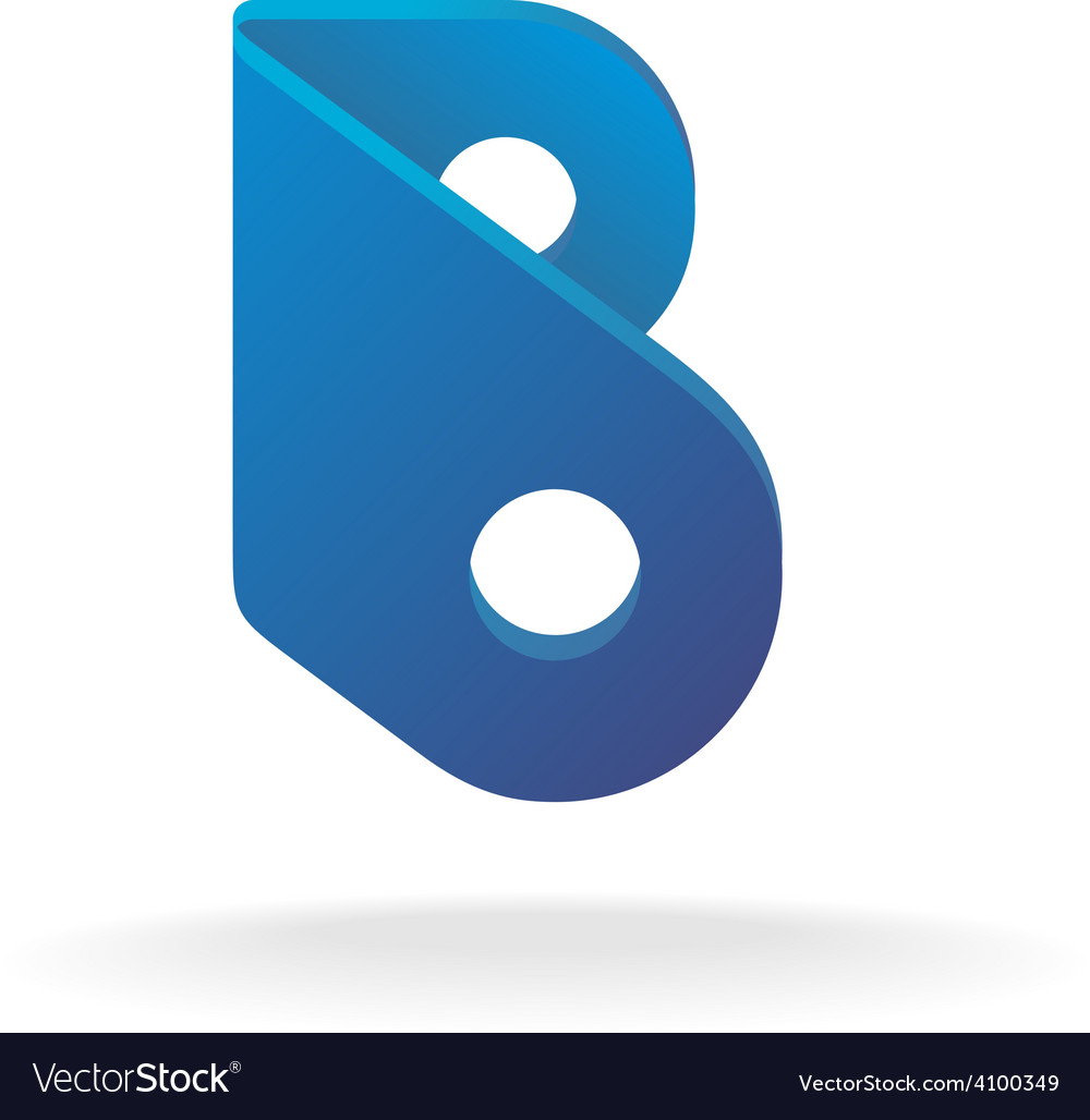 Letter b logo template construction building vector | Price: 1 Credit (USD $1)