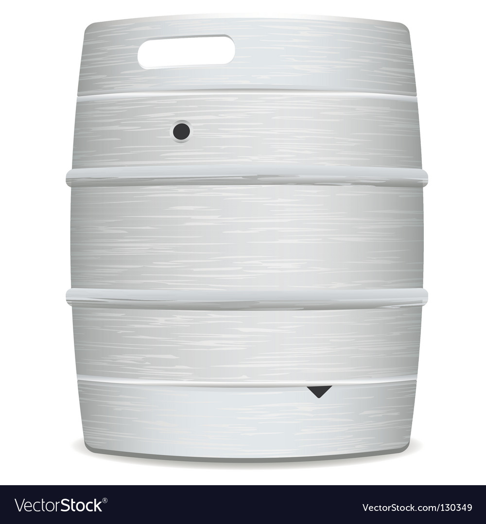 Metal beer keg vector | Price: 1 Credit (USD $1)